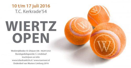 Limburgs tennis event Wiertz Open