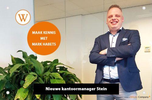 Maak kennis met Mark Habets onze nieuwe kantoormanager in Stein
